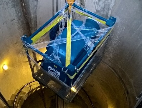 Estrattori d'aria a noleggio per i lavori sotterranei di una centrale di pompaggio