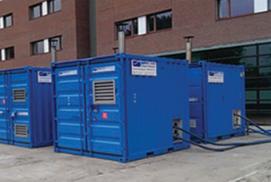 Centrali termiche forniscono riscaldamento ad un centro medico