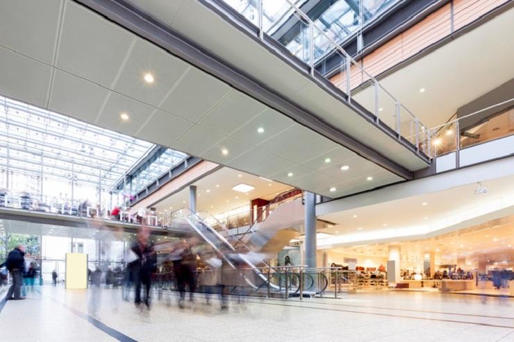 Condizionatori d'aria temporanei per un centro commerciale
