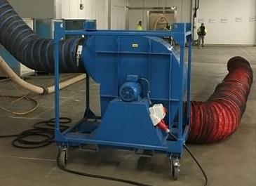 Noleggio di un estrattore d'aria per dei lavori di verniciatura