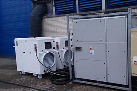 Chiller e unità di trattamento aria per una sala conferenze