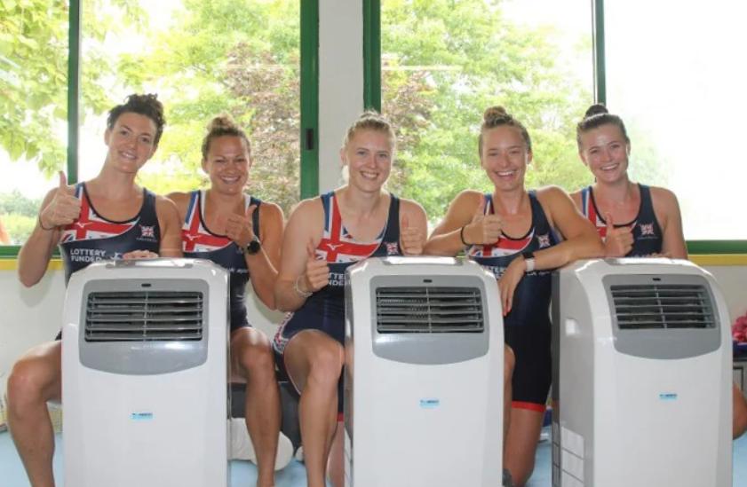 Condizionatori Nolo Climat per la squadra di canottaggio britannica